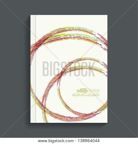 Cover for journal, magazine. Leaflet  Flyer template A4 size design. Layout for book, brochure, flyer, poster, booklet, leaflet, postcard flier headline annual report vector