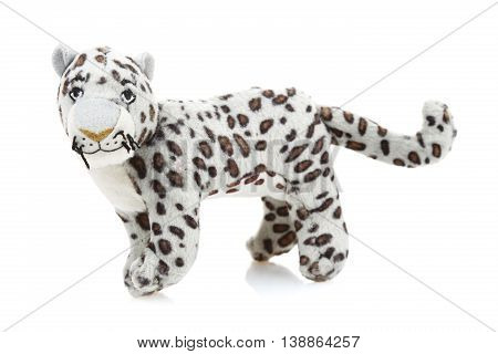 Children toy, Soft teddy tiger  isolated on white background
