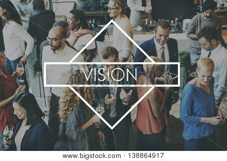 Vision Corporation Inspiration Development Goals Concept
