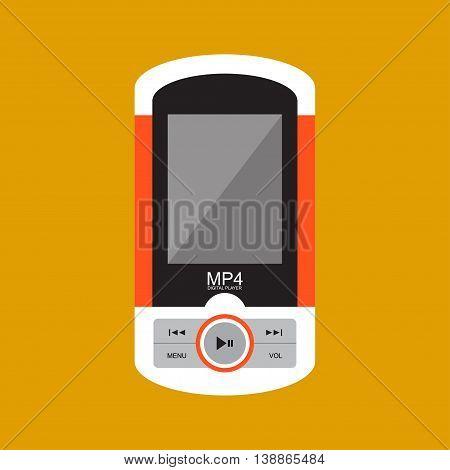 Portable music player. illustrator vector Eps 10.