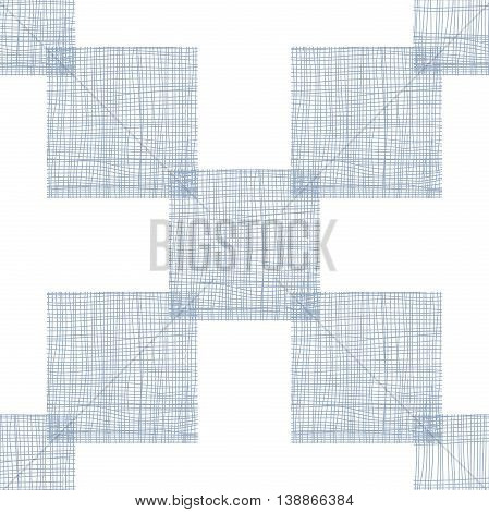 Linen seamless pattern with realistic linear effect. Vector illustration clip-art web design elements 10 eps