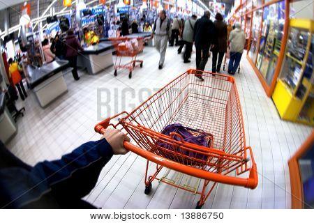Orange Pushcart