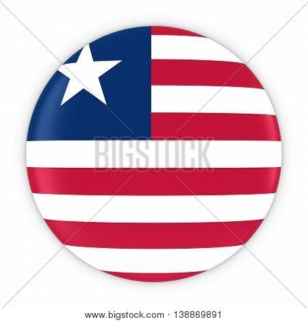 Liberian Flag Button - Flag Of Liberia Badge 3D Illustration