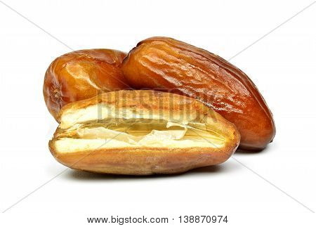 dried date fruit isolated on white background