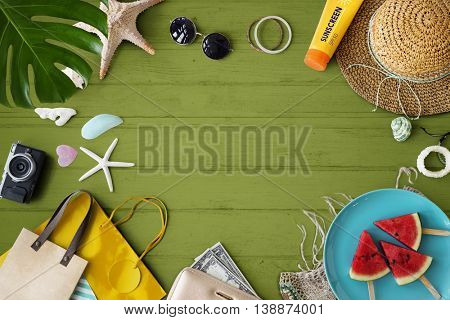 Summer Vacation Background Wallpaper Concept