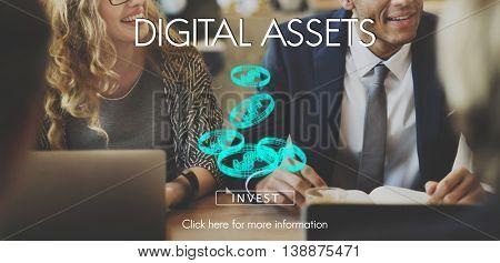 Digital Assets Finance Money Business Concept