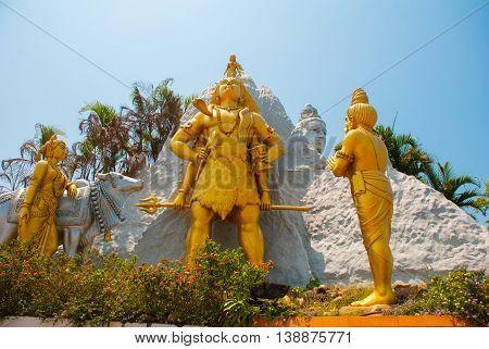 Statue. Murudeshwar. Temple In Karnataka, India