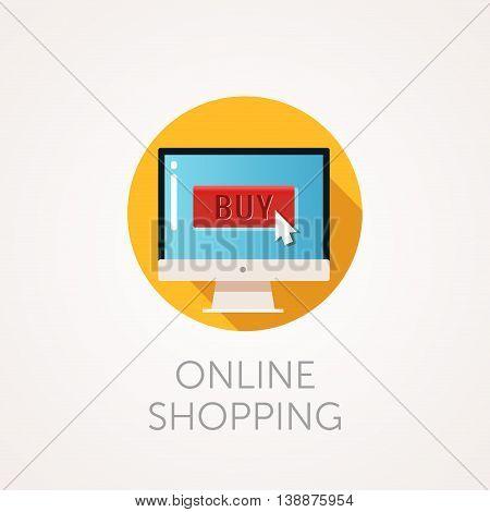 flat design vector illustration concept of online shop.