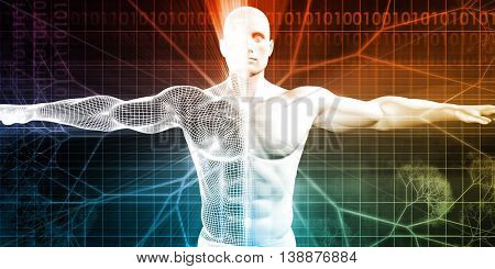 Medical Testing and Body Checkup of a Human Male 3D Render Illustration