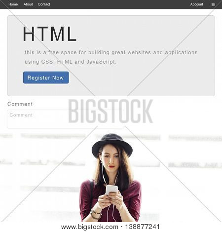 HTML Website Internet Design Content Concept