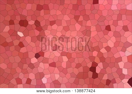 Bright red mosaic. The mosaic background. Abstraction.