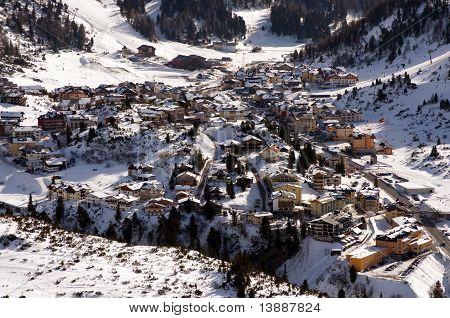 Obertaurn Ski Resort In Austrian Alps