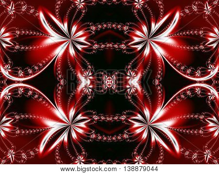 Flower fractal pattern. You can use it for invitations notebook covers phone cases postcards cards ceramics carpets and so on. Artwork for creative design art and entertainment. red