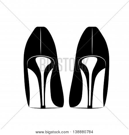 beautiful fashion heels isolated icon design, vector illustration  graphic