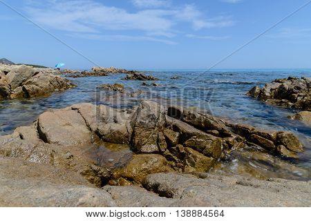 a view of orosei gulf in sardinia, italy