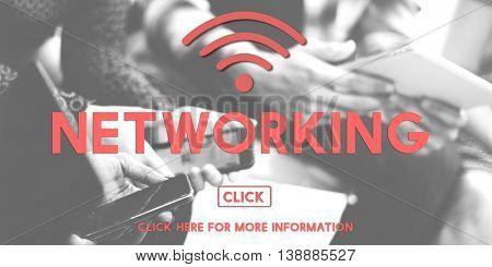 Networking Wireless Internet Online Concept