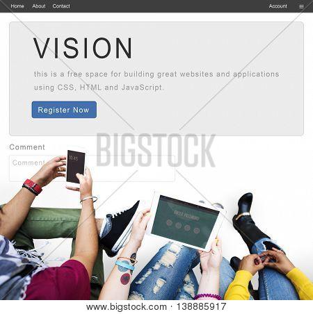 Vision Planning Business Inspiration Mission Concept