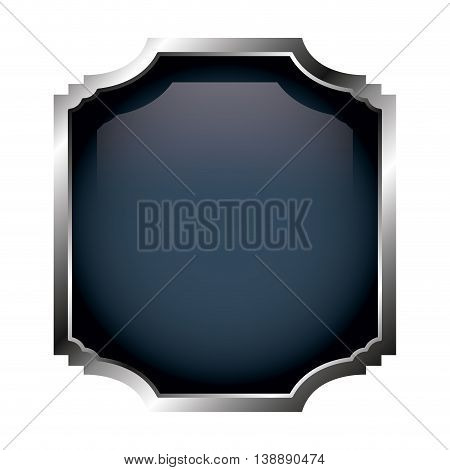 frame with silver border isolated icon design, vector illustration  graphic