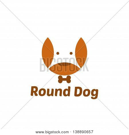 Illustration Of Abstract Negative Space Of Dog. Vector
