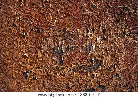 Grunge rusty metal surface.  Abstract textured background.