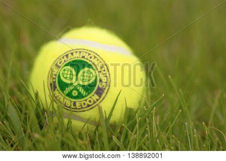 LONDON ENGLAND-JUNE 22 2009: Official Tennis Ball for Tradidional Tournament at Wimbledon London UK