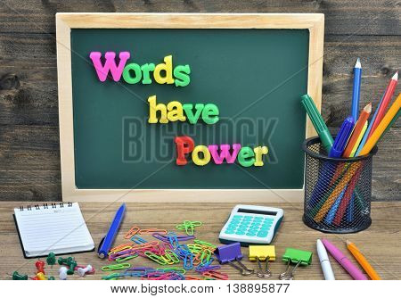 Words have power word on school board
