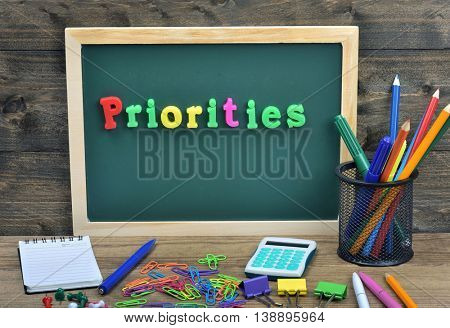 Priorities word on school board