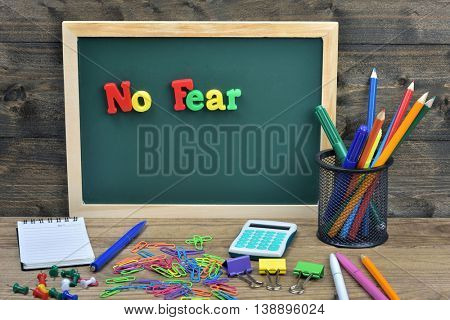 No fear word on school board