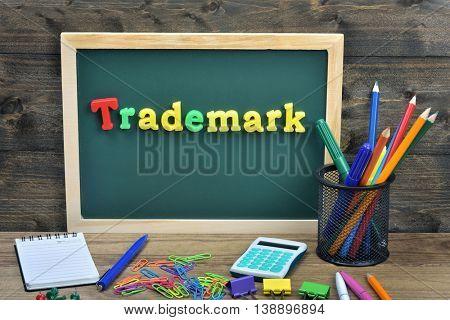 Trademark word on school board