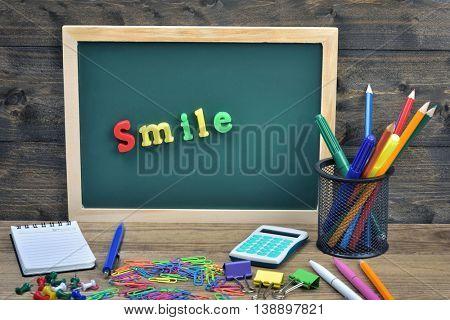Smile word on school board