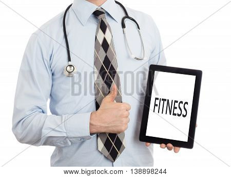 Doctor Holding Tablet - Fitness