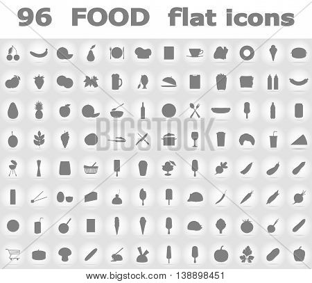 food flat icons vector illustration isolated on background