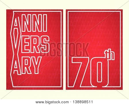 Vector Illustration of Anniversary 5th Outline for Design, Website, Background, Banner. Jubilee silhouette Element Template for festive greeting card. Shiny gold Confetti celebration