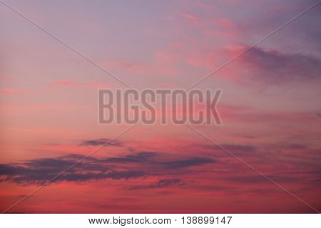 Beautiful dawn sky background