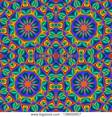 Colorful abstract seamless pattern with circle ornament. You can use it for invitations notebook covers phone cases postcards cards ceramics carpets and so on. Artwork for creative design art and entertainment. multicolor