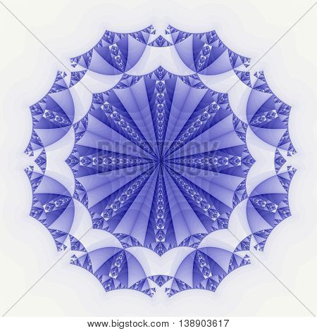 Blue Colored fractal pattern background or texture