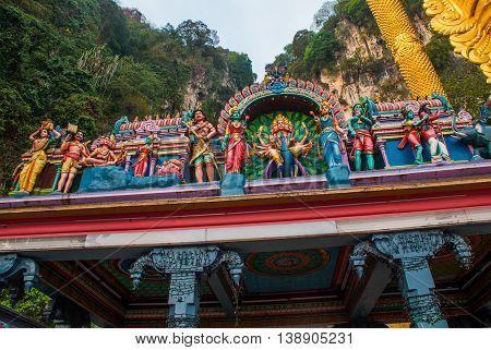 Statue Of Hindu God At Batu Caves, Kuala-lumpur, Malaysia