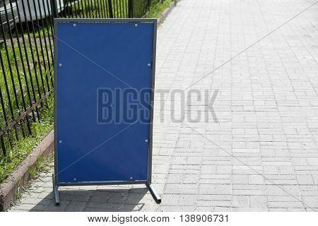 Billboard on city street