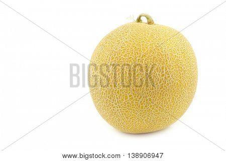 fresh galia melon on a white background