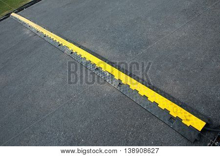 Rubber Cable Protector for Rubber Speed Bump on the road