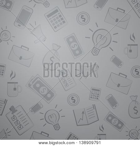 Grey business pattern. Background for business and economics. Teawork and managment. Bank investment and budget.