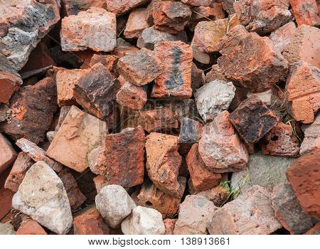 Old beaten bricks. Texture and Background. ruins