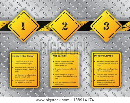 Industrial infographic background design with three options