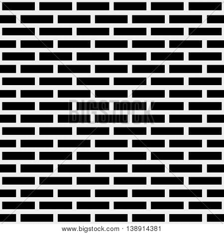 Geometric simple black and white minimalistic pattern, brick. Can be used as wallpaper, background or texture.