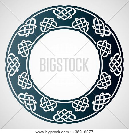 Openwork round frame with celtic motif. Laser cutting template for greeting cards envelopes wedding invitations interior decorative elements.