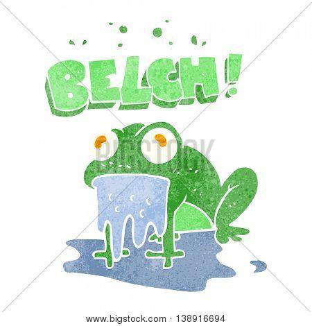 freehand retro cartoon gross little frog