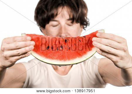 Female Holding A Melon