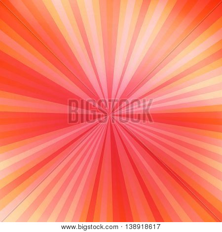 Beautiful abstract orange starburst background. Colorful ray abstract background. Circus background for your show. Vector