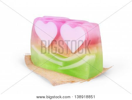 soap isolated on white background closeup, isolated, natural, floral, white,