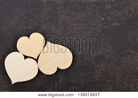 Heart On Leather Background